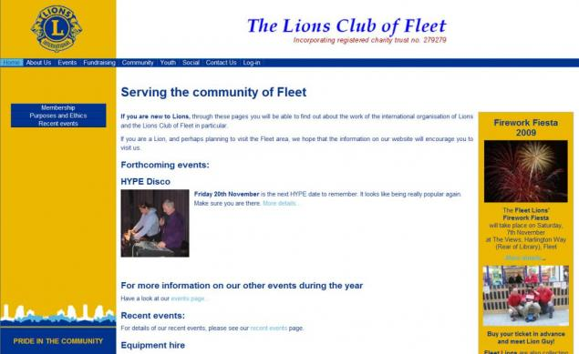 Fleet Lions front page