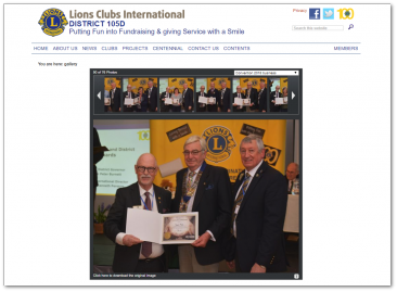 Lions Clubs - District 105D website